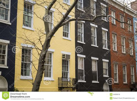 Colorful New York City Apartment by Colorful Apartment Buildings New York City Royalty Free