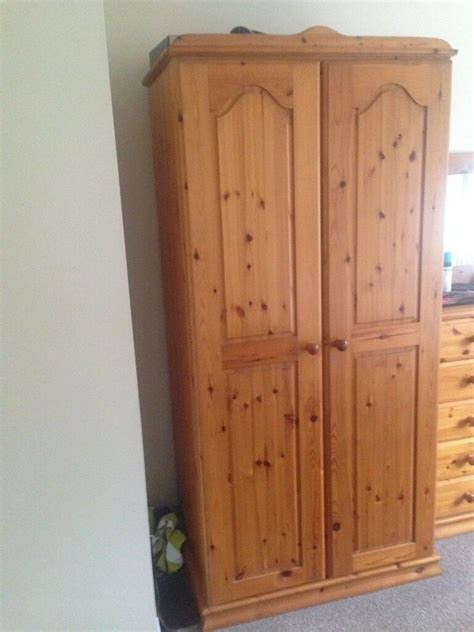 Wood Wardrobes For Sale by Antique Pine Solid Wood Wardrobe For Sale In Banbridge