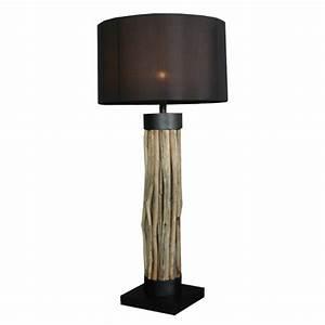 Lampes Bois Flotté : lampadaire exotique en bois flott damas d co ethnique ~ Melissatoandfro.com Idées de Décoration