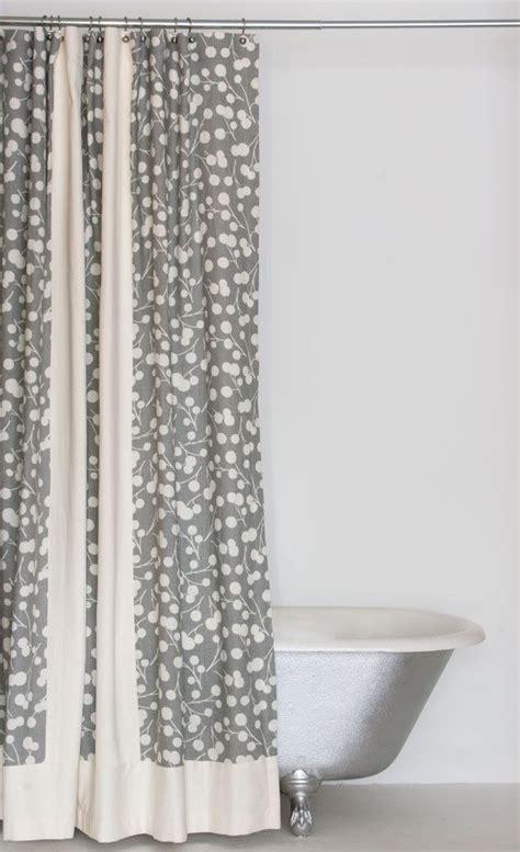 grey linen hemp and organic cotton shower curtain