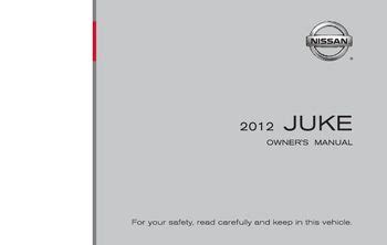 nissan juke owners manual   pages