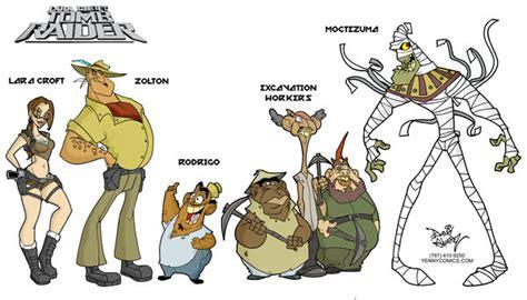 Tomb Raider Animated Lineup By Davealvarez On Deviantart