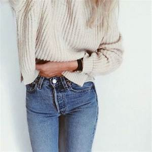 Jeans: high waisted, high waisted jeans, sweater, knitwear ...