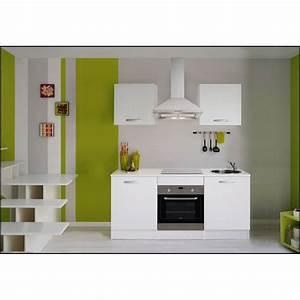 Meuble De Cuisine Blanc Laqué : meuble de cuisine blanc leroy merlin ~ Teatrodelosmanantiales.com Idées de Décoration