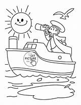 Coloring Ship Pages Captain Transportation Disney Cruise Printables Water Printable Wuppsy Boat Sheets Mayflower Toddlers Getcolorings Yacht sketch template