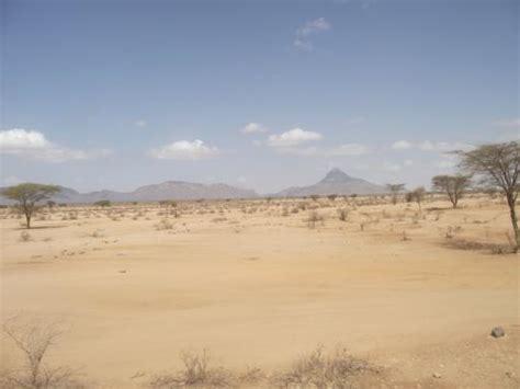 Semi desert on the way to Marsabit - Joburg to Cairo