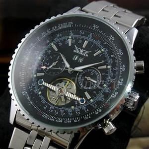 Montre De Marque Homme : pour homme marque luxe montres jaragar automatique montre ~ Melissatoandfro.com Idées de Décoration