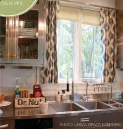 Kitchen Curtain Ideas Above Sink by Decorating Cents Kitchen Window Treatment Options