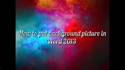 Put Word Background