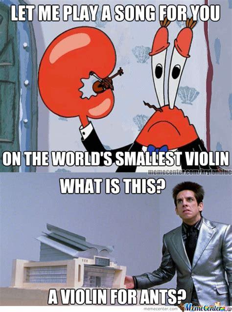 Violin Meme - world s smallest violin by krylonblue meme center