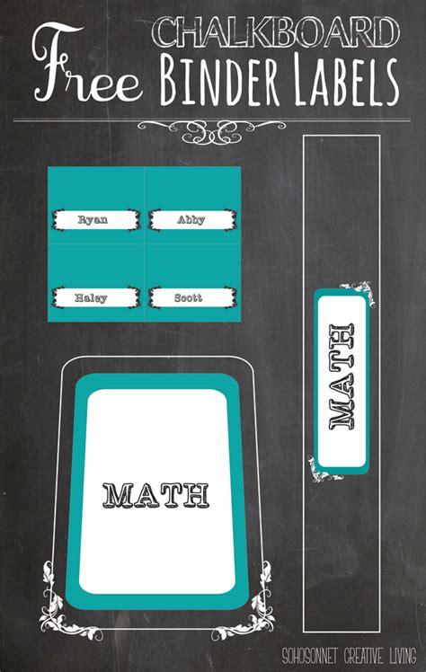 binder label free printable chalkboard labels binders and storage organization sohosonnet creative living