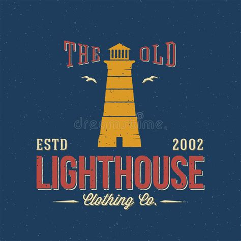 lighthouse clothing  nautical abstract stock
