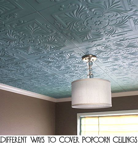 covering popcorn ceiling ideas  pinterest
