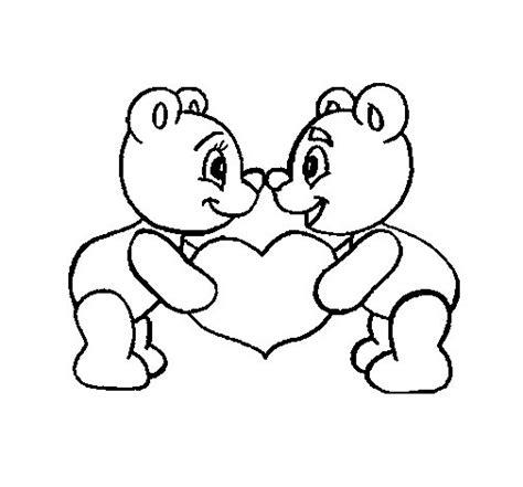 disegni da colorare di siamo orsi disegno di orsi innamorato da colorare acolore