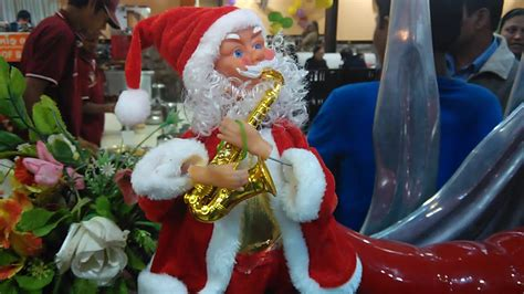battery operated musical santa claus toy youtube