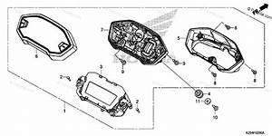 Honda Motorcycle 2015 Oem Parts Diagram For Speedometer