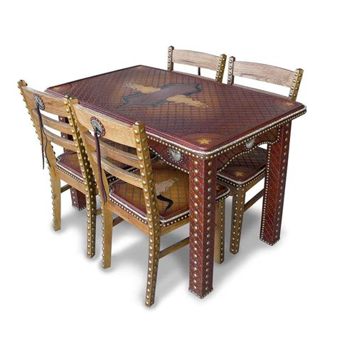 game table sets with chairs tooled game table and chairs