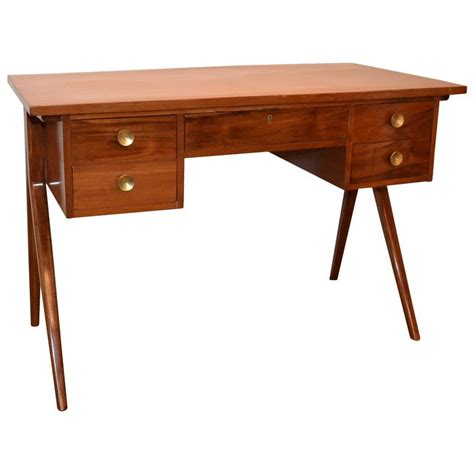 mid century writing desk argentinian mid century modern writing table or desk with