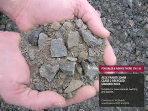Class 2 Aggregate Base Rock