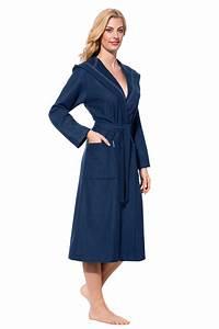 Bademantel Damen Lang : damen bademantel sehr leicht blau celia morgenstern ~ Watch28wear.com Haus und Dekorationen
