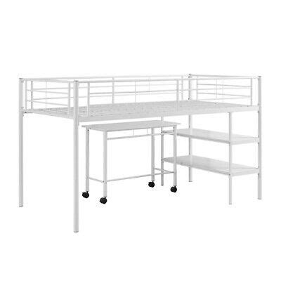 Ebay Bunk Bed With Desk by Loft Bed With Desk And Shelves In White 812492013983