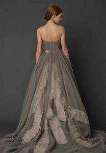 utterly gorgeous coloured gowns for the unconventional With grey wedding dress vera wang