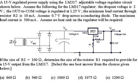 lm317 voltage regulator circuit all about circuits