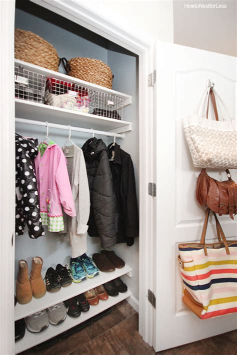 organized coat closet makeover how to nest for less