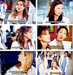 Grey's Anatomy Season 5. Hahaha I love Meredith & Cristina ...