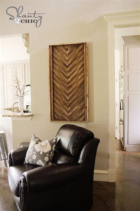 diy wall art  wood shims shanty  chic