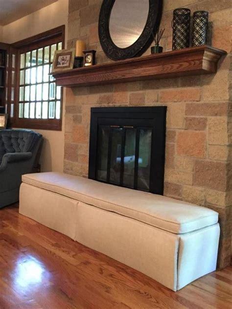 custom fireplace cushion    deep