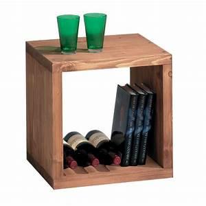 Cube Etagere Bois : une tag re cube en bois massif cir toute preuve ~ Teatrodelosmanantiales.com Idées de Décoration