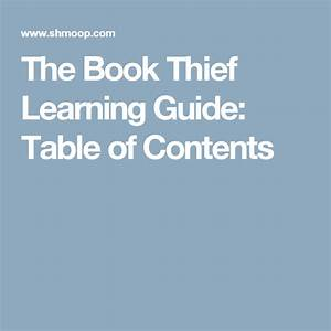 The Book Thief Learning Guide  Table Of Contents