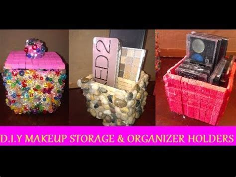 DIY: Makeup Storage & Organizer Holders (USING CLOTHES