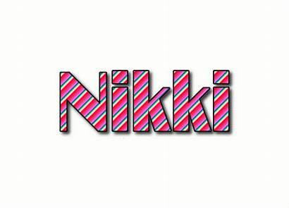 Nikki Text Logos