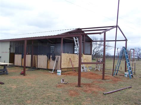 kerrville steel addition to barn and awning