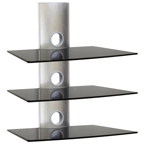 Black Glass Floating Shelves Ideas ~ Home Decorations : DIY Glass Floating Shelves