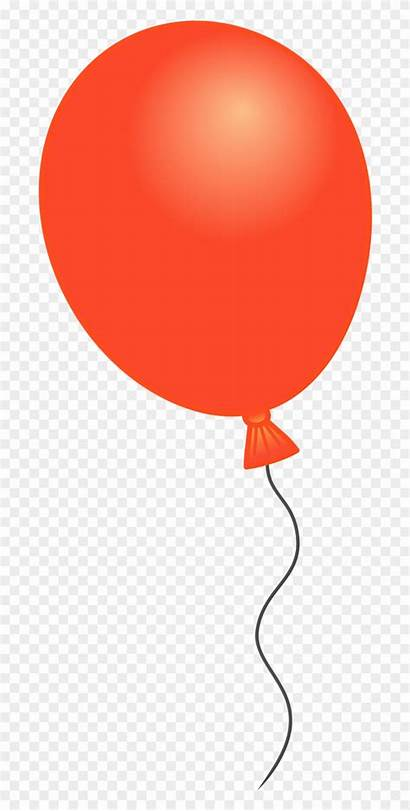 Balloon Balloons Clipart Svg Single Orange Clip