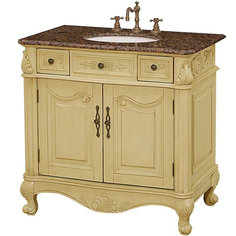 "Colonia 36"" Antique Bathroom Vanity  Antique White Free"