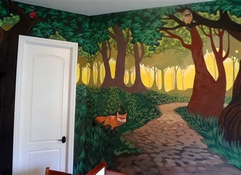 Kinderzimmer Wandgestaltung Wald by The Talking Walls Fantastical Forest Nursery Mural D O