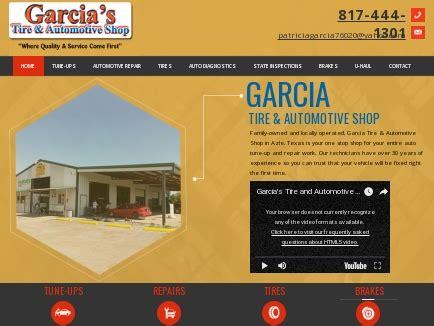 garcia tire automotive shop auto repair azle tx