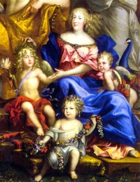 jean nocret louis xiv and the royal family detail of queen marie th 233 r 232 se and her children from the