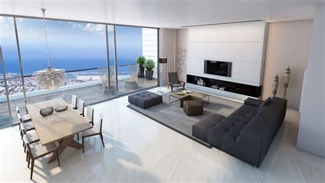 Living Room by Living Room Sea View Interior Design Ideas