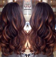 Balayage Dark Brown Hair with Caramel Highlights