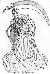 7 Best Images of Scary Grim Reaper Drawings - Grim Reaper ...