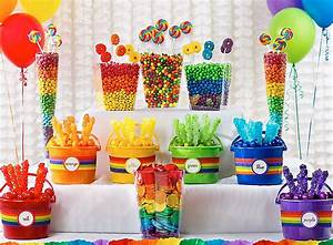Rainbow Candy Buffet Ideas - St Patricks Day Party Ideas
