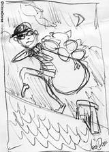 Burglar Cat Sketch Prowl Hideous Napkin Doodle Pen Pencil Important sketch template