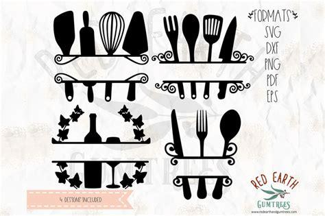 kitchen split monogram frame decal svg png eps dxf  formats  svgbrewerydesigns