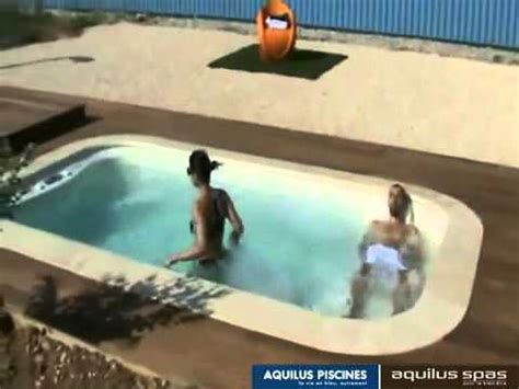 Mini-water : Innovation 2009 Aquilus piscine - spa - YouTube