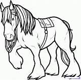 Horse Coloring Pages Drawing Draw Clydesdale Angus Drawings Brave Horses Printable Step Dragoart Colouring Printablecolouringpages Creature Camp Embroidery Movies Clipartmag sketch template